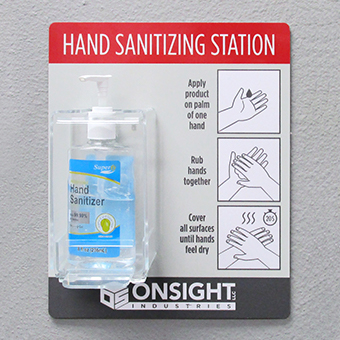 Wall- or Desk-Mount COVID-19 Hand Sanitizing Station