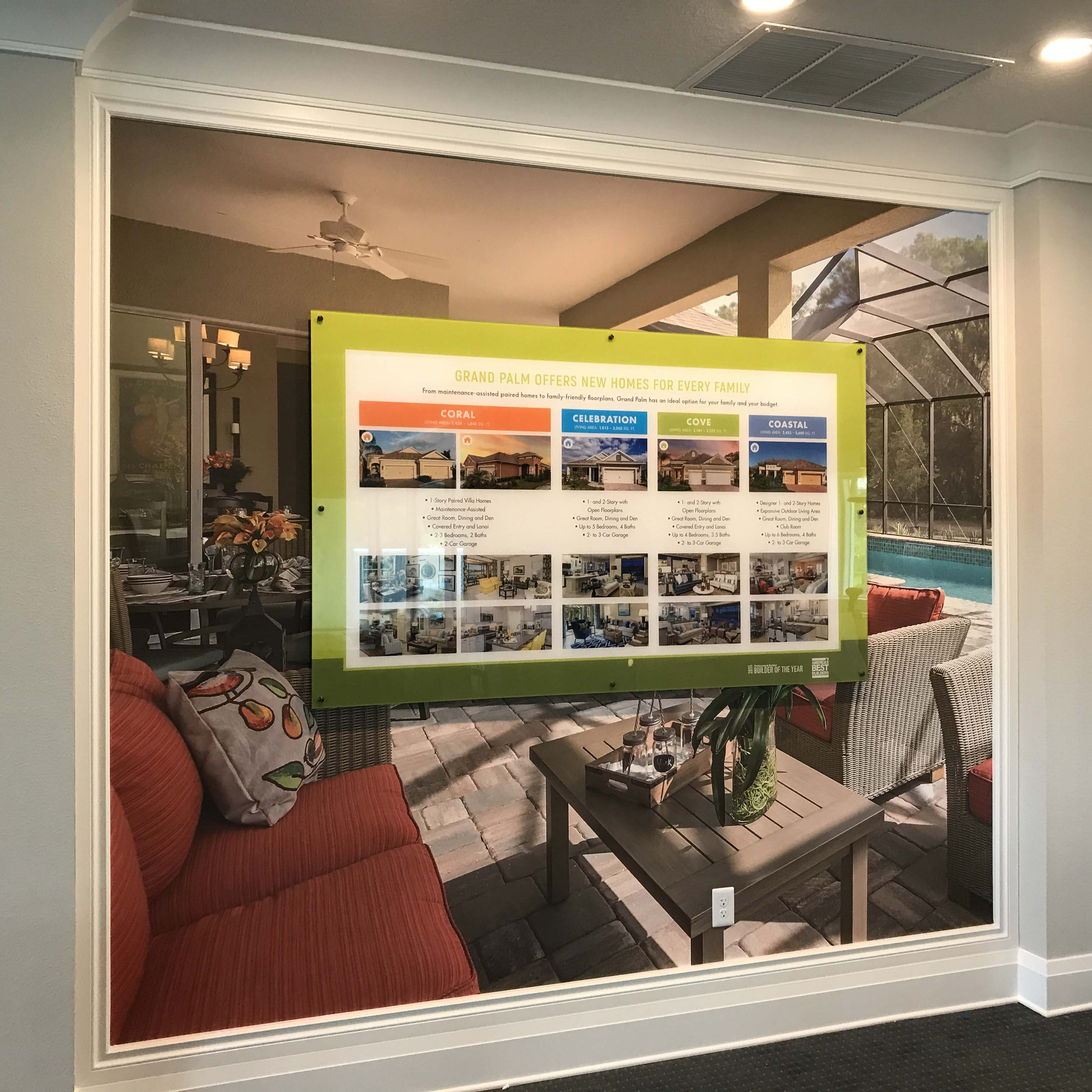 Model home sales center wall graphics